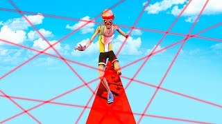 HARDEST TIGHTROPE LASER RUN (Ben & Ed)
