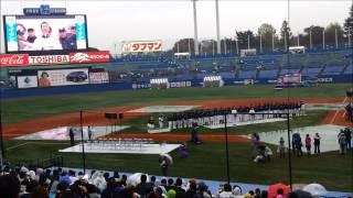 11月23日 ヤクルトファン感謝DAYでの福地引退セレモニー。宮出も一...