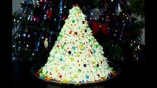 Новогодний торт Ёлочка. С кремом. Новогодние рецепты. Сборка торта. Моя Dolce vita