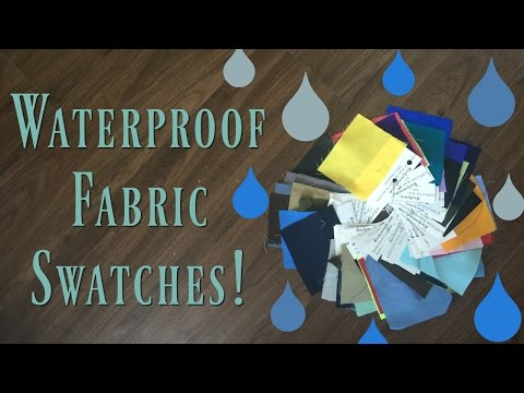 Waterproof Fabric [Supplex and Taslan] Color Swatches!