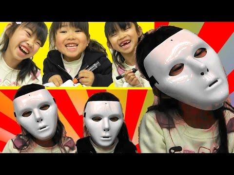 マスクにお絵かきしてみた★にゃーにゃちゃんねるnya-nya channel