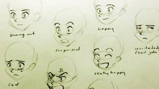 How to Draw a Manga Face: 7 Expressions