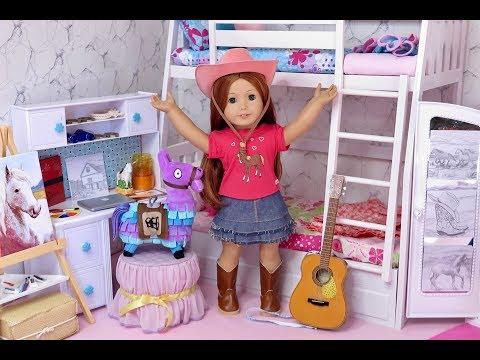 American Girl Doll Horse And Llama Bedroom!