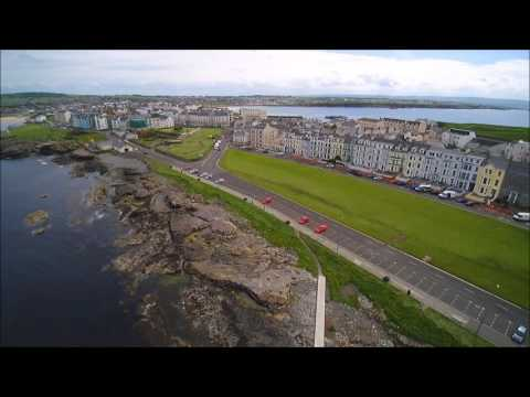 North Coast, Portrush and surrounding cliffs and Dunluce Castle