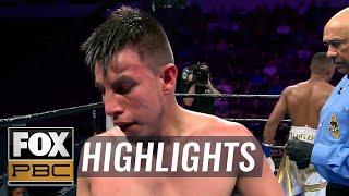 Jose Luis Gallegos suffers hematoma, early stoppage loss to Michel Rivera | HIGHLIGHTS | PBC ON FOX