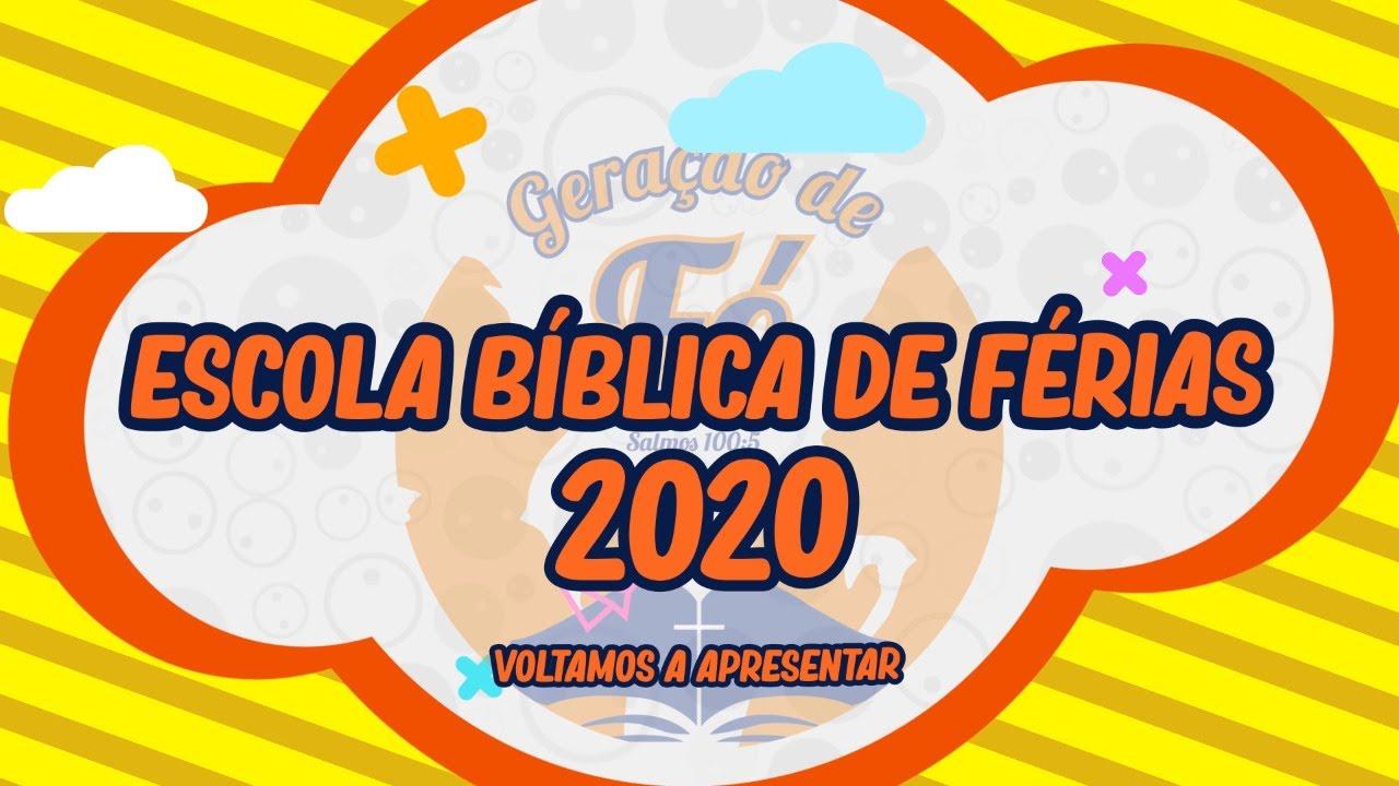 ESCOLA BIBILICA DE FÉRIAS 04/07/20 #FIQUEEMCASA #ADORE