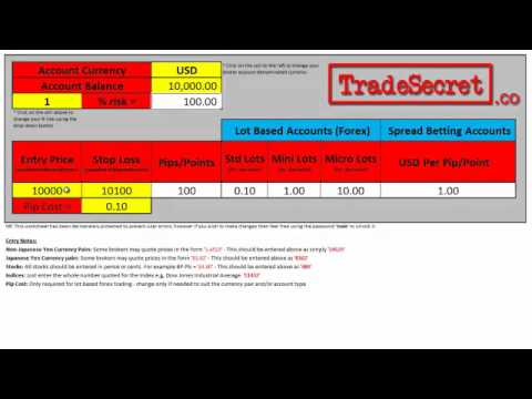 Trade Size Calculator