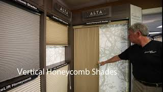 Alta Vertical Honeycomb Shades at Carolina Blinds in Hendersonville NC