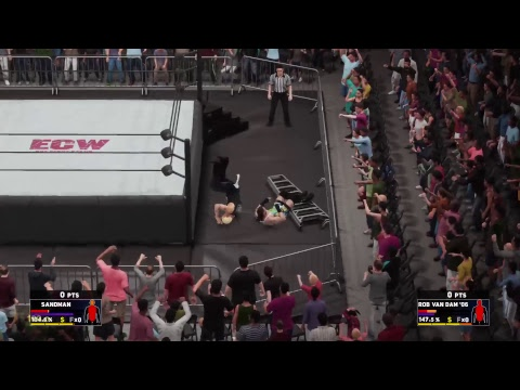 RVD vs Sandman  ECW