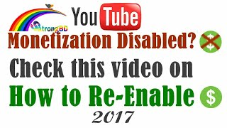 How to Enabled Youtube Monetization Bangla [Fix Disabled Problem] [Latest- 2017] by Techmandarin