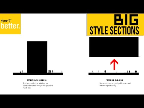 How to do BIG (Bjarke Ingels)  Style Diagram sections in Photoshop