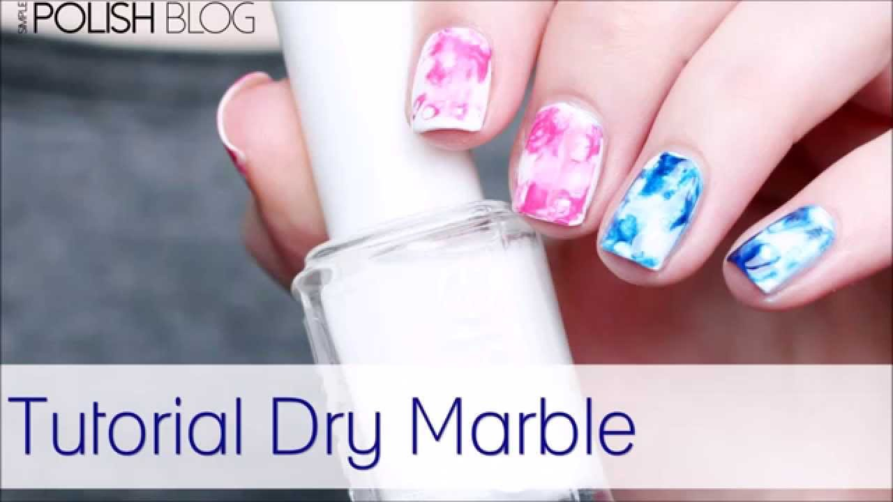 Easy Nail Art: Dry Marble Tutorial - YouTube
