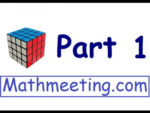 How To Solve The 4x4 Rubiks Cube Part 1 Youtube