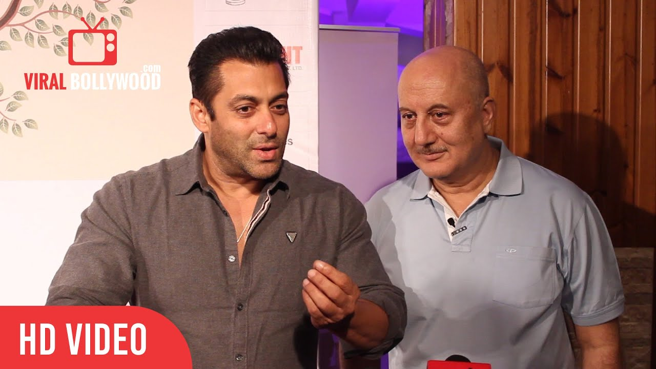 Salman Khan with Anupam Kher