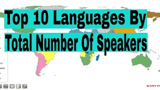 Top Languages By Total Number Of Speaker's