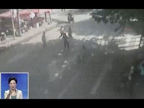Moment earthquake strikes China killing at least 150