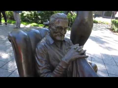 The Dr. Seuss National Memorial Sculpture Garden in Springfield, Massachusetts USA