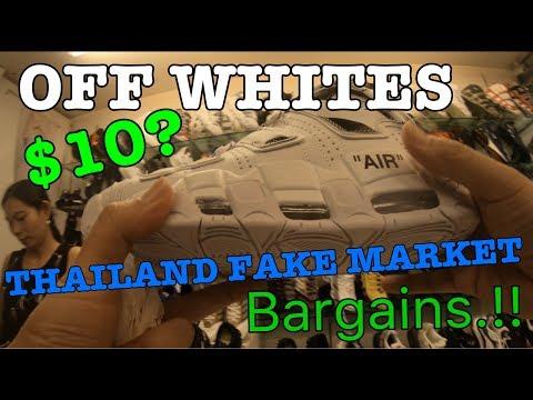 OFF WHITES $10? THAILAND FAKE MARKET BARGAINS.!!
