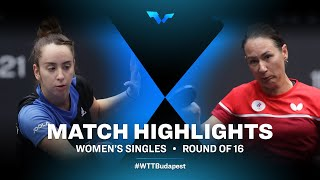 Izabela Lupulesku vs Polina Mikhailova | WTT Contender Budapest 2021 (R16)