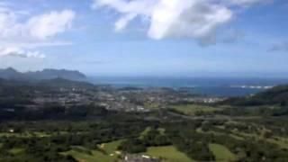 Koolau Mountains in Honolulu Hawaii with La vie en rose
