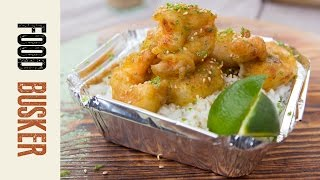 Wasabi Tempura Shrimp | Food Busker
