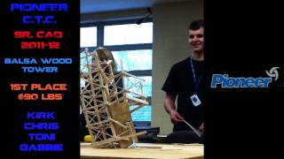 Pioneer C.t.c. | Cad | Balsa Wood Tower | 1st Place