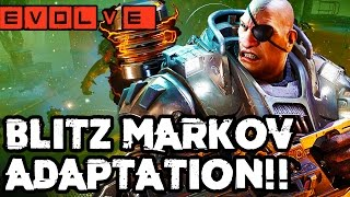 BLITZ MARKOV ROCKS!! Evolve Gameplay Walkthrough - Multiplayer (Hunter Adaptation Gameplay PC 1080p)