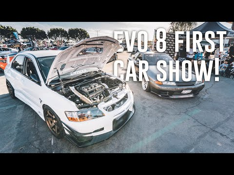 FIRST TIME REVEALING THE EVO 8 AT A CAR SHOW! *StanceNation SoCal*