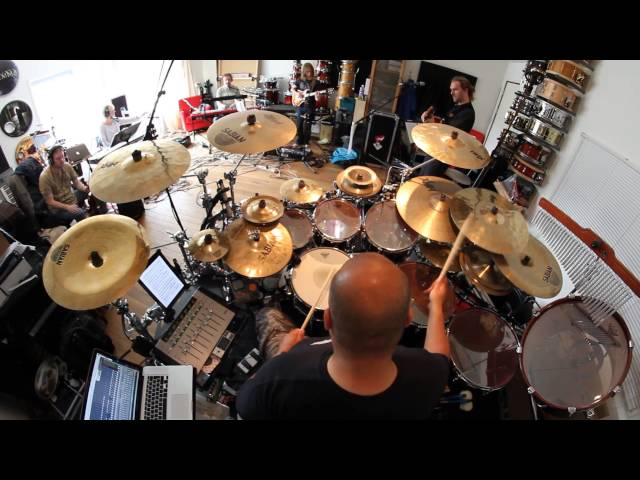 Collin Leijenaar rehearsing with the European Neal Morse band for the Testimony II tour in 2011