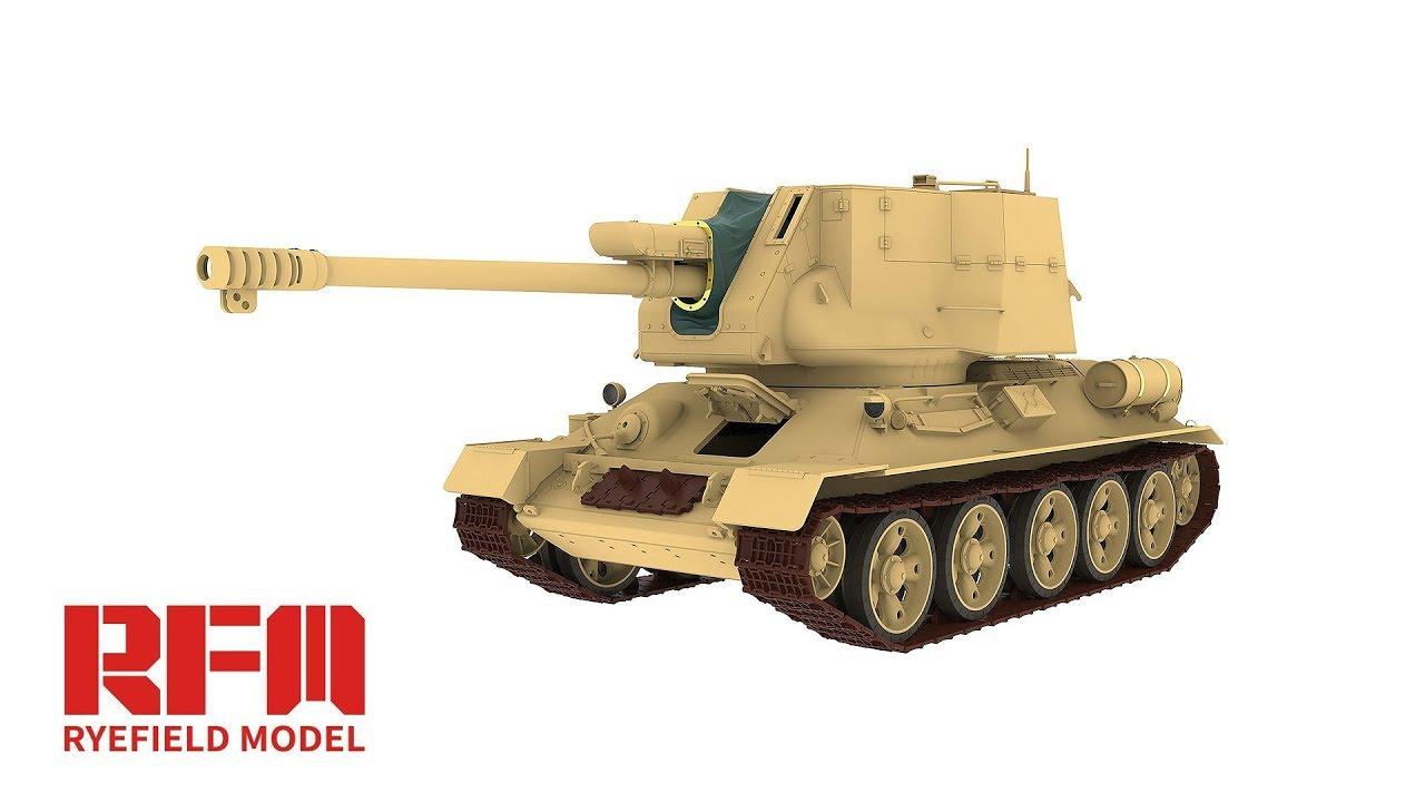 Штурмовой танк Т-34/122 (египетский) в 35-ом масштабе от компании Rye Field Model