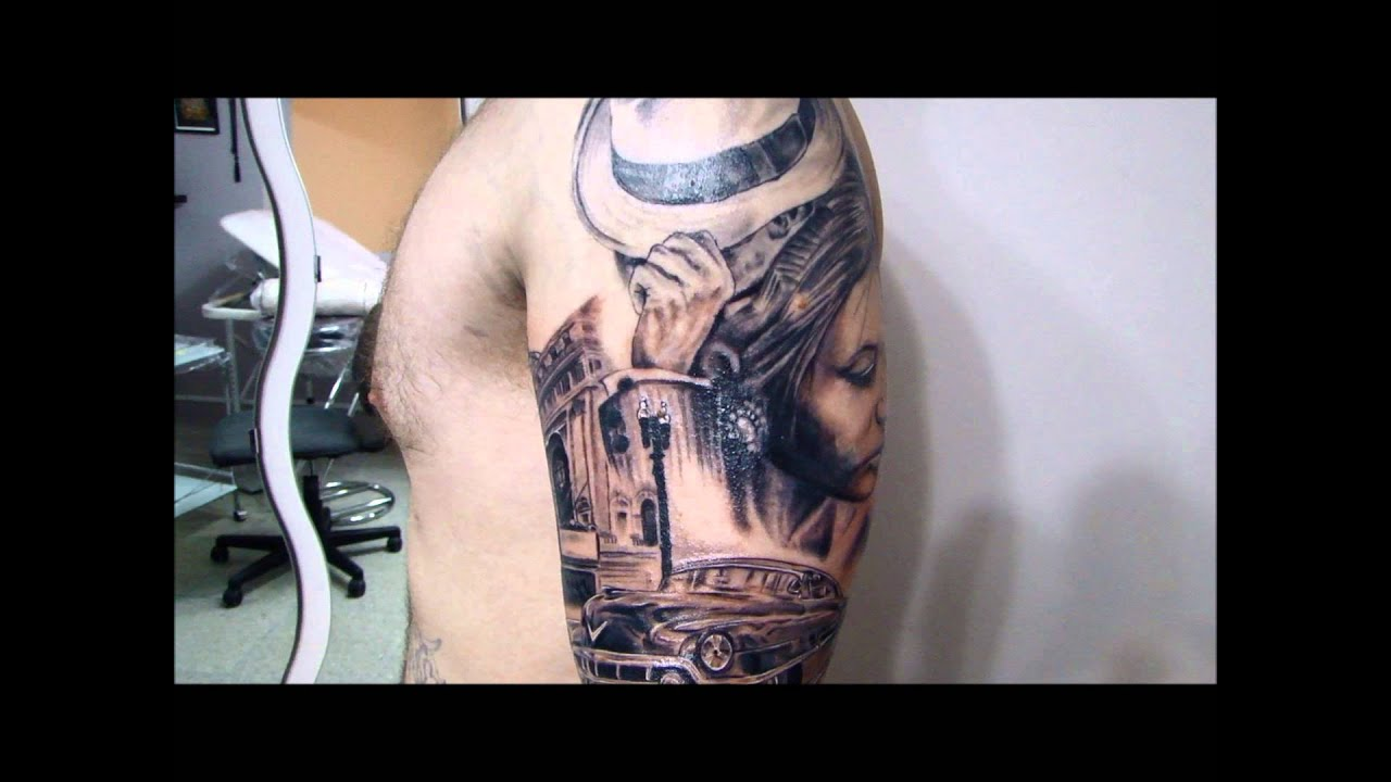 Chicago Tattoo With Cadillac Car Chris Cosmos Tattoo Studio Youtube