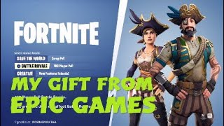 FORTNITE BATTLE ROYALE *MY GIFT FROM EPIC GAMES