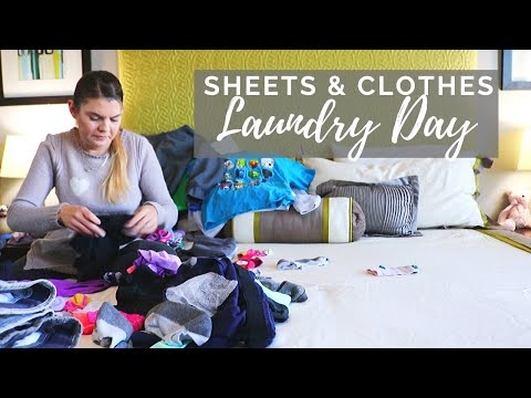 CLEAN Sheets & LAUNDRY DAY // Cleaning Motivation // Cleaning Mom