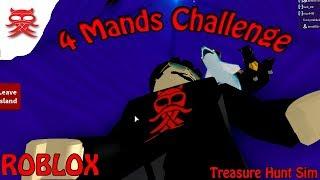 4 mands challenge - Treasure Hunt Sim - Dansk Roblox