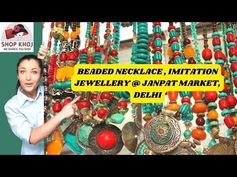 Imitation Jewellery Stores in Janpath Market, Delhi