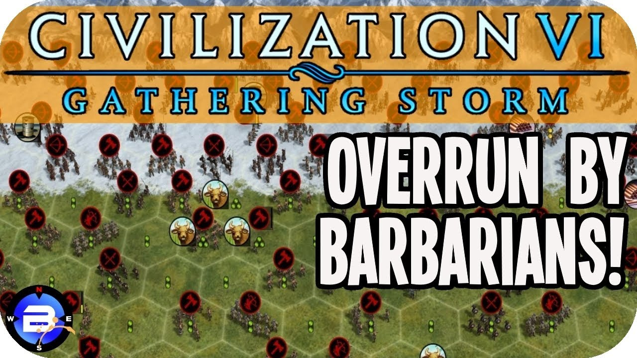 Overrun by BARBARIANS in Civilization VI Gathering Storm #2 (Pachacuti/Inca  Civ 6)