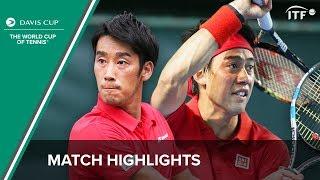 Highlights: Kei Nishikori/Yuichi Sugita (JPN) v Artem Smirnov/Sergiy Stakhovsky (UKR)