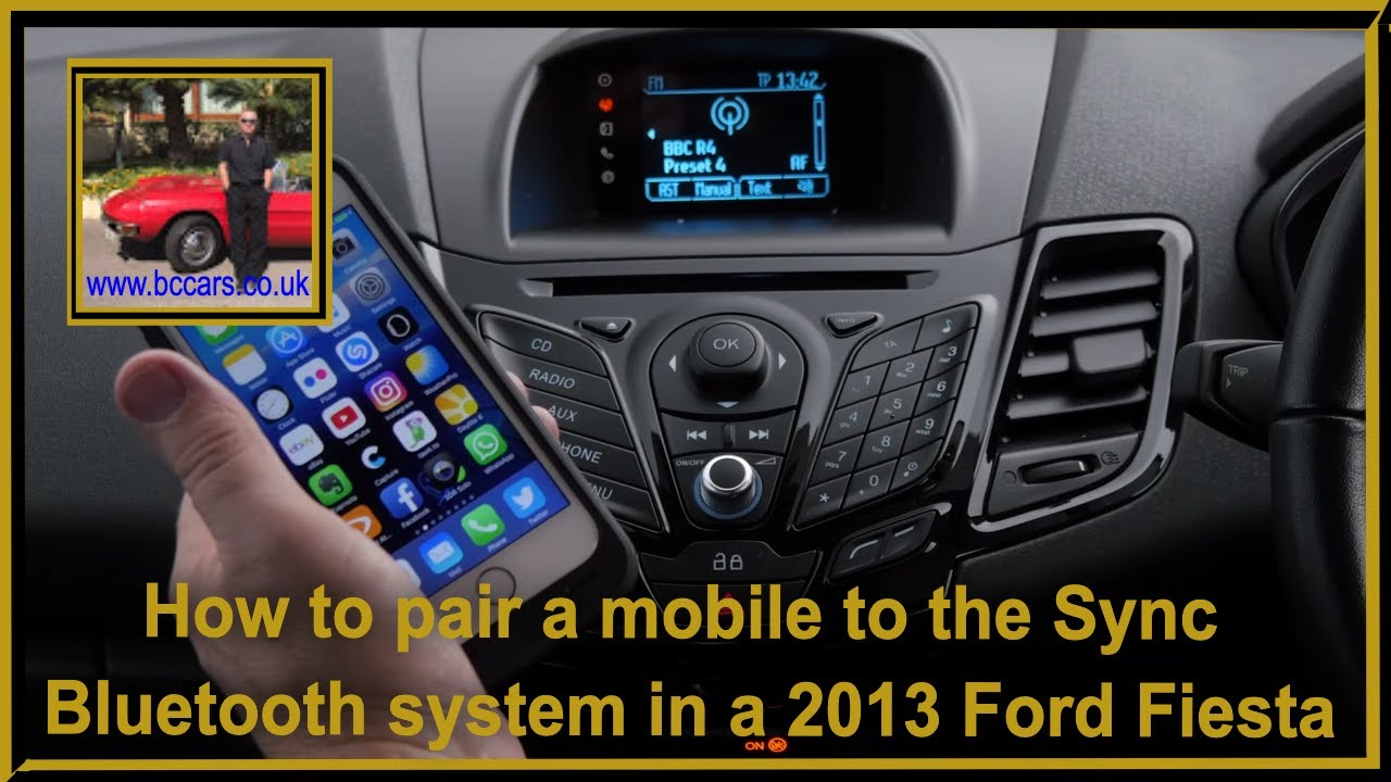 How To Pair A Mobile To The Sync Bluetooth System In A  Ford Fiesta   Zetec Hatchback Dr