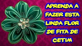 Aprenda a Fazer Esta Linda Flor de Fita de Cetim – Artesanato Brasileiro