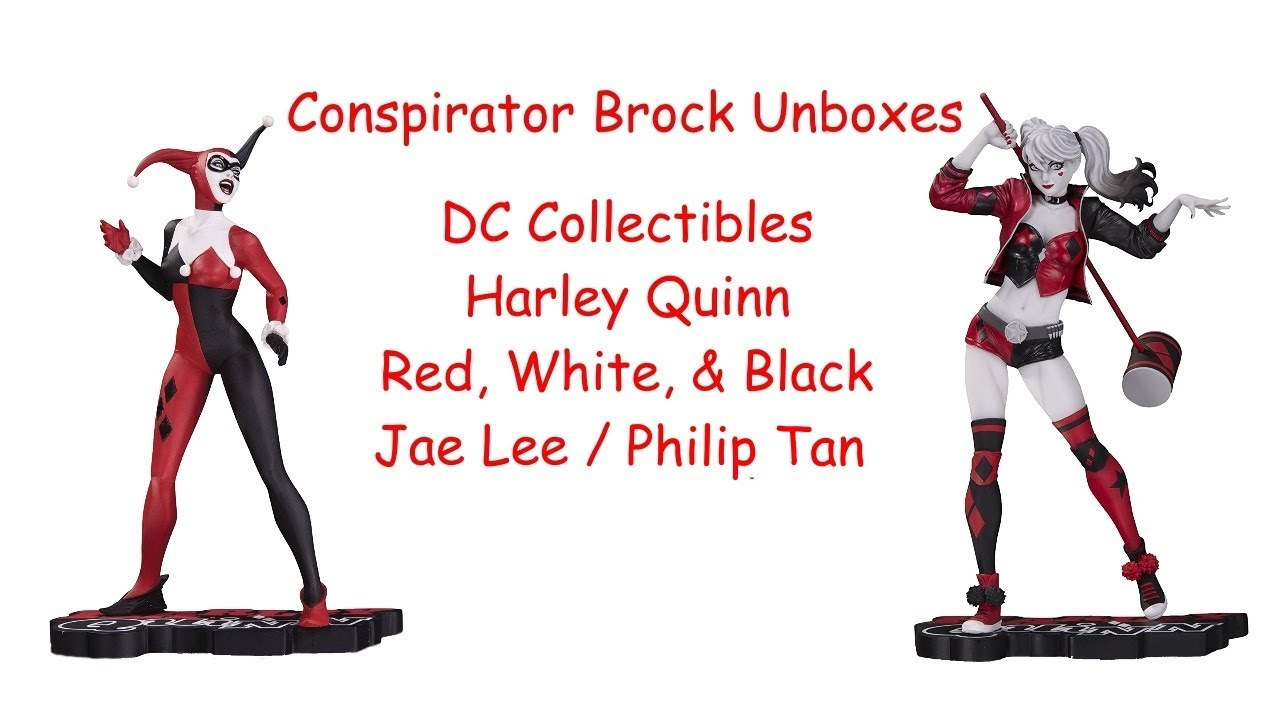 DC Collectibles Red White /& Black Harley Quinn by Philip Tan Resin Statue