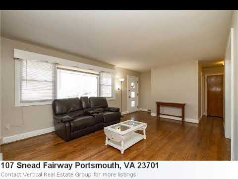 Portsmouth, Va Real Estate For Sale - 107 Snead Fairway. Mls# 10166723 Is A 3 Bedroom, 2 Bath Home L