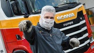 Rij een dagje met me mee, natuurlijk in mijn Scania V8 S520. Helemaal goud!