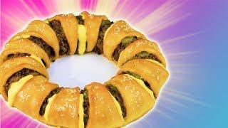 Cheeseburger selber machen - mit diesem Cheeseburger Rezept für den ausgefallenen Cheeseburger Ring.