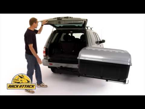 Thule 684 Terrapin Hitch Mount Cargo Box Demonstrated by Rack Attack