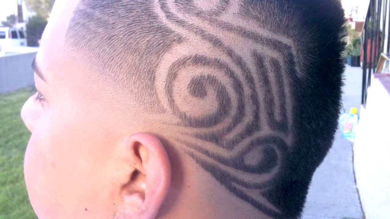 crazy design and haircuts