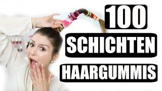 100+ SCHICHTEN HAARGUMMIS l HÖLLISCHE SCHMERZEN :o l WTF l Sara Desideria