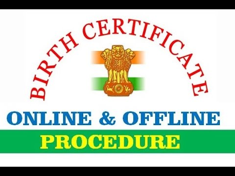 how to apply for birth certificate in india online & offline - YouTube