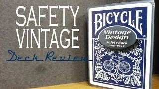 Safety Back  - Bicycle USPCC - Playing Cards Deck Review