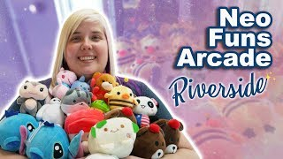 SO MANY WINS! Claw machine wins at the new NeoFuns Riverside arcade