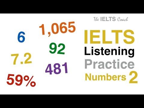 IELTS Listening Practice Numbers 2